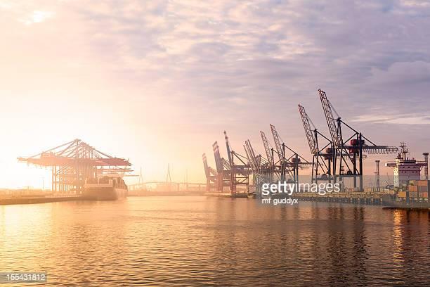 Terminal del puerto de Hamburgo recipiente