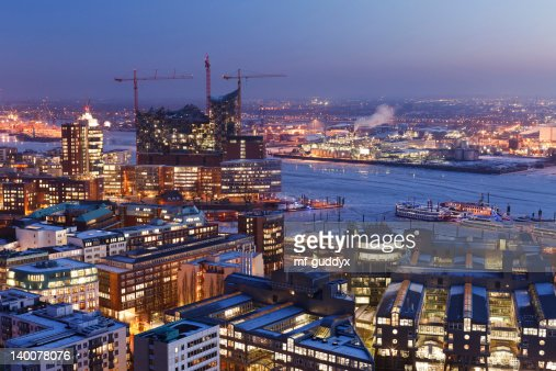 Hamburg harbour, Elbe Philharmonic Hall, cityscape