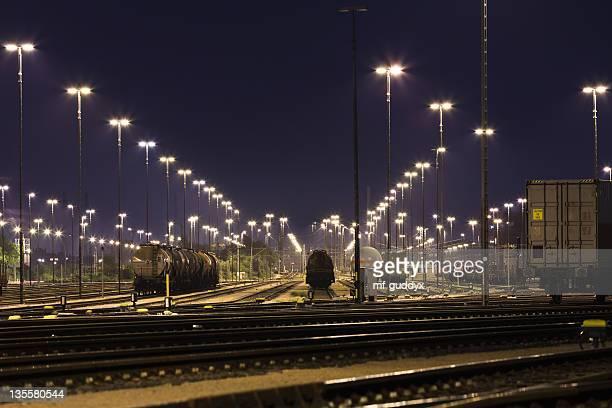 Hamburger Hafen, den Güterzugverkehr und Bahn