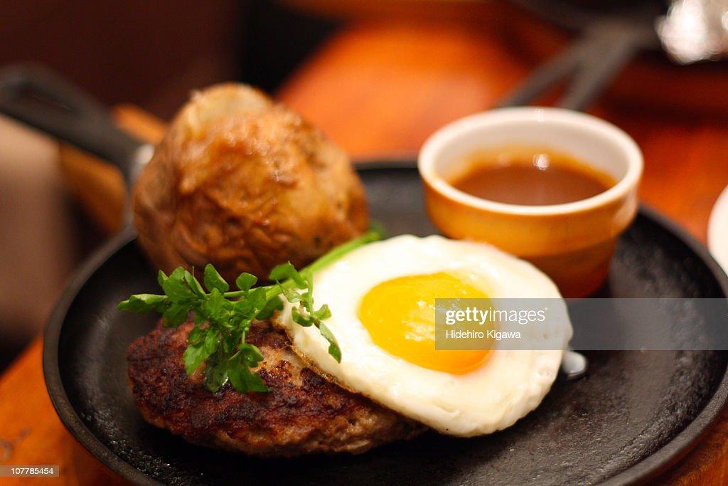 Hamburg Steak : ストックフォト