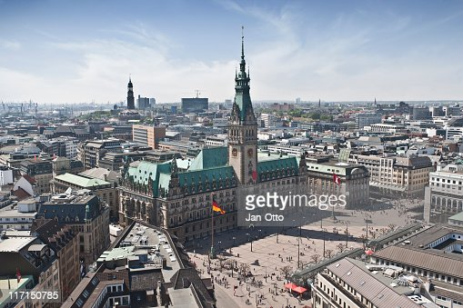 Hamburg Town Hall : Stock Photo