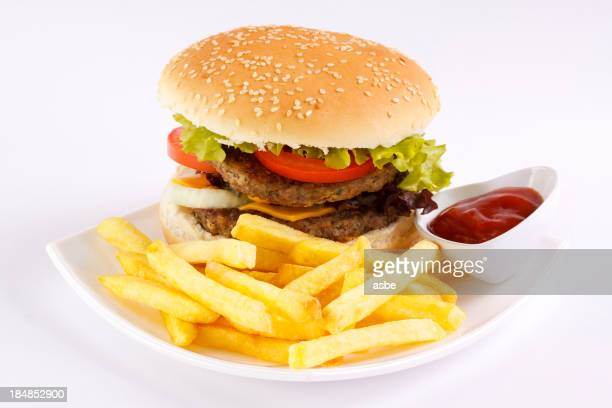 Hamburger and French Fries