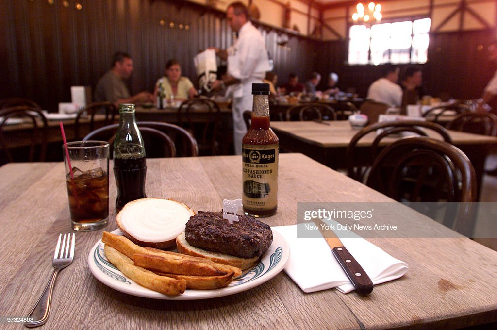 Hamburger at Peter Luger's Steakhouse in Brooklyn