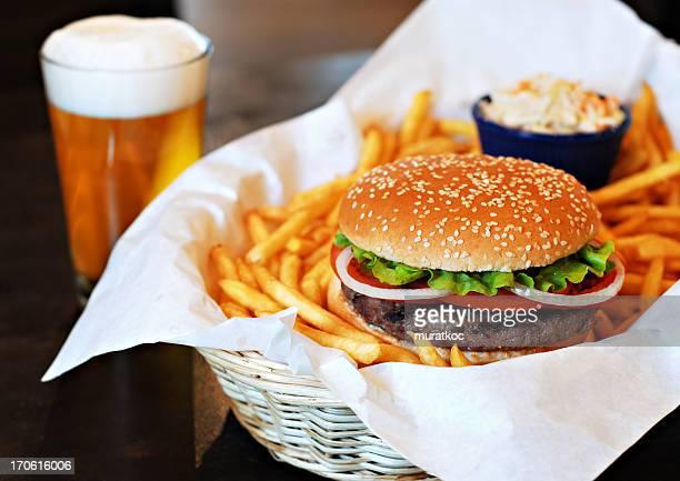 Hamburger & Beer