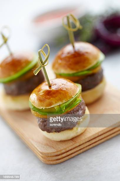 Hamburger canapes