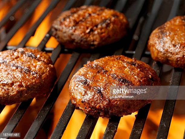 Hamburger Patties on the BBQ