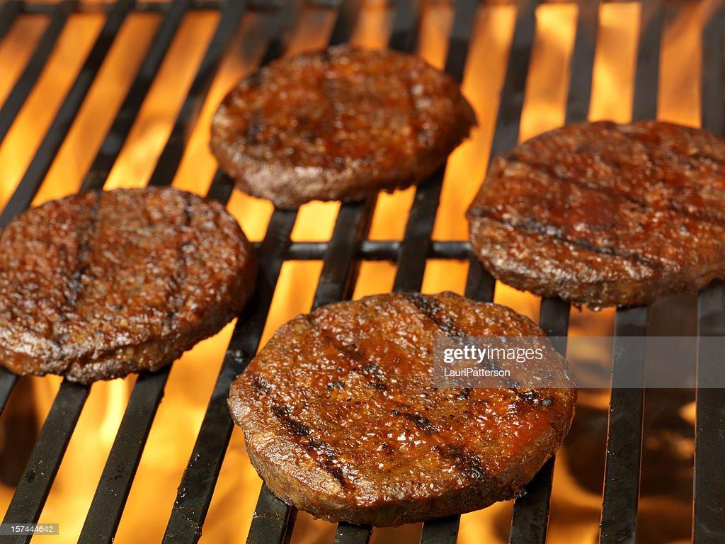 BBQ Hamburger Patties : Stock Photo
