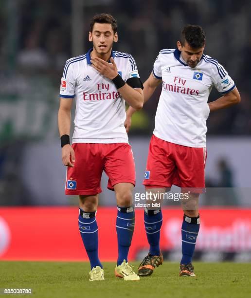 FUSSBALL BUNDESLIGA Hamburger SV Greuther Fuerth Hakan Calhanoglu und Tomas Rincon