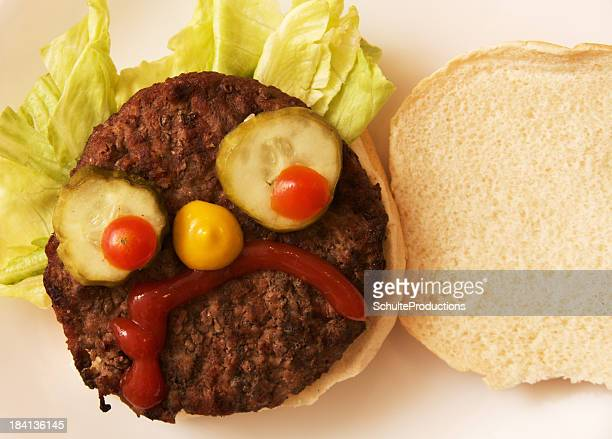 Hamburger with a Funny Face