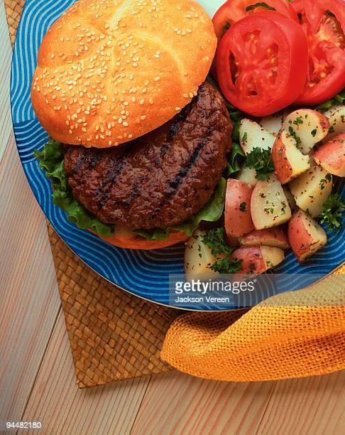 Hamburger with potatoes