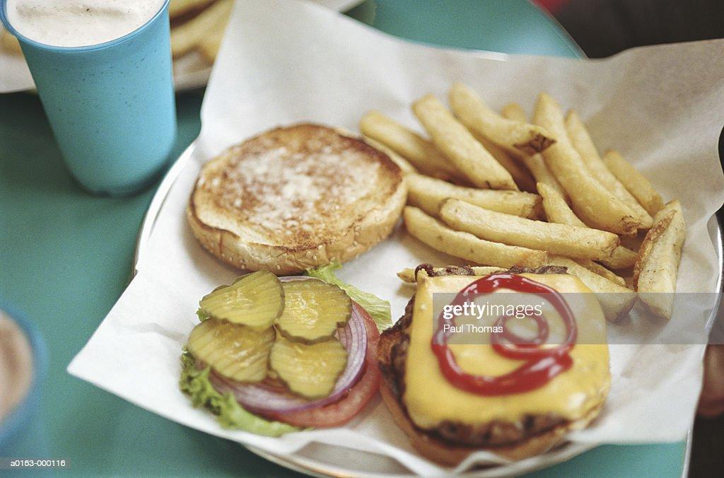 Hamburgers and Fries : Stock Photo