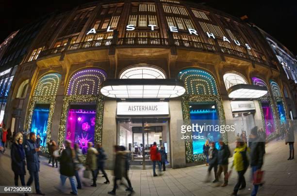 Hamburg's Alterhaus department store at Christmas.