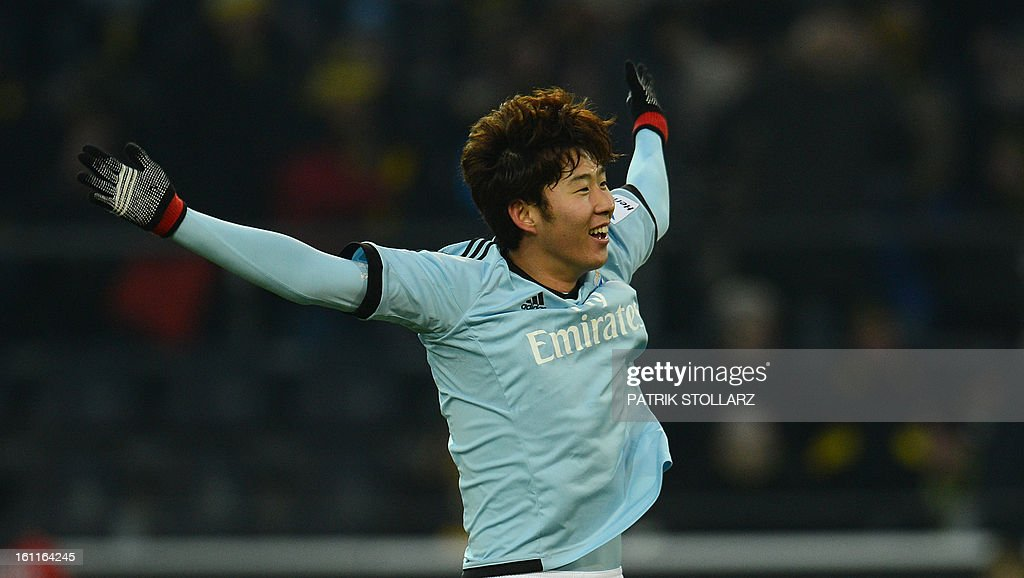 Hamburg's Korean striker Heung Min Son reacts during the German first division Bundesliga football match Borussia Dortmund vs Hamburger SV in Dortmund, western Germany, on February 9, 2013. Hamburg won 1-4.