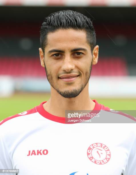 Hamdi Dahmani of Fortuna Koeln poses during the team presentation at Suedstadion on July 12 2017 in Cologne Germany