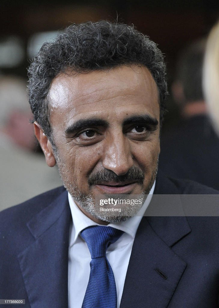 Hamdi Ulukaya, a billionaire and founder, president and chief executive officer of Chobani Inc., speaks during an interview at the Wal-Mart Manufacturing Summit in Orlando, Florida, U.S., on Thursday, Aug. 22, 2013. Wal-Mart Stores Inc.s U.S. chief Bill Simon urged companies to create domestic manufacturing jobs, saying the effort is good for businesses as it cuts costs by having goods produced closer to where they are consumed. Photographer: Jim Stem/Bloomberg via Getty Images