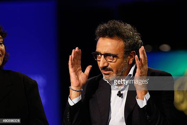 Hamdi Ulukaya Founder and CEO of Chobani speaks onstage during the Clinton Global Initiative 2015 at the Sheraton New York Times Square Hotel on...