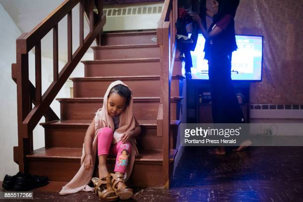 Hamdia Ahmed's niece ZamZam tries on Ahmed's pageant heels before practicing the pageant walk with her aunt Ahmed wanted to 'break the barrier' and...