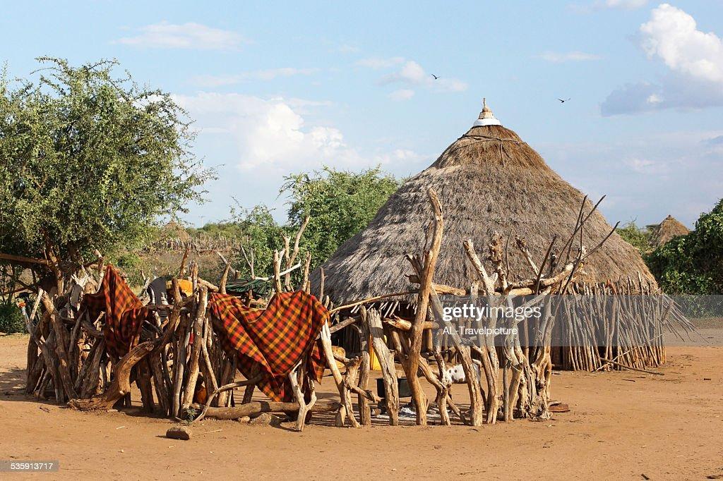 Hamer, Etiópia, África : Foto de stock