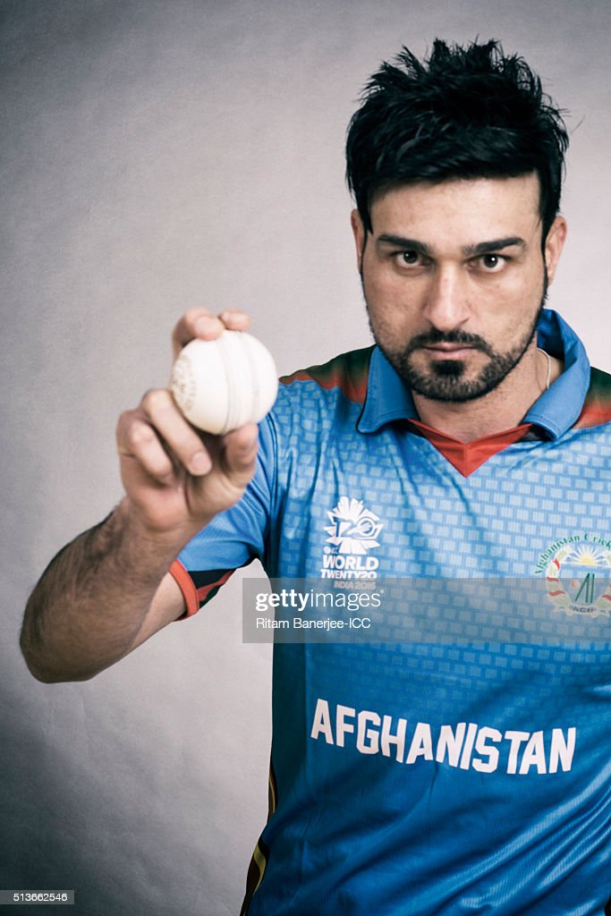 Hamid Hassan of the Afghanistan poses during the official photocall for the ICC Twenty20 World on March 3, 2016 in Mohali, India.