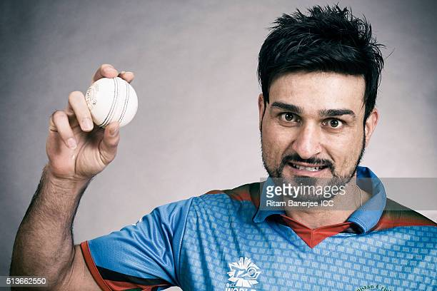 Hamid Hassan of the Afghanistan poses during the official photocall for the ICC Twenty20 World on March 3 2016 in Mohali India