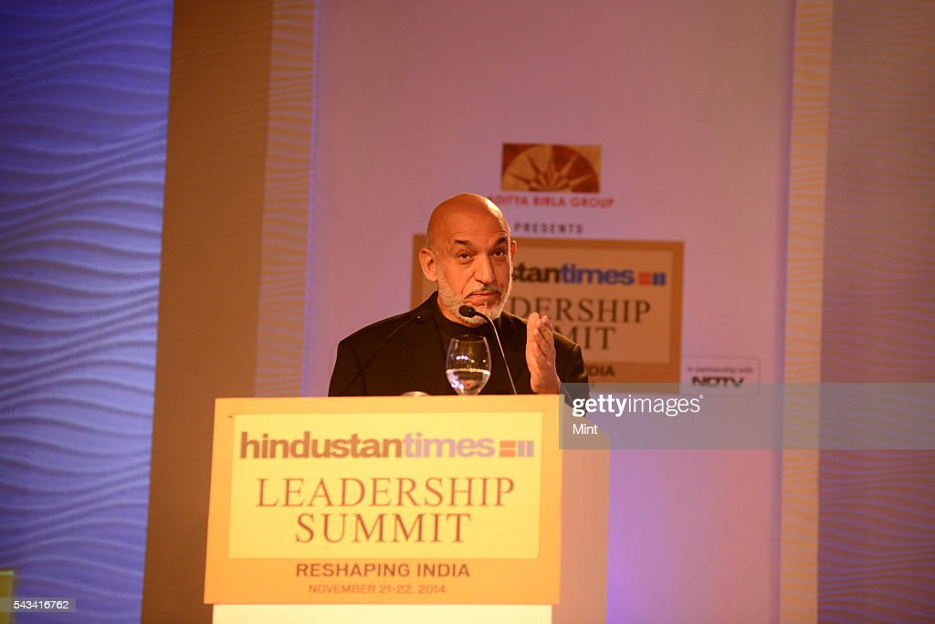 Hamid Karzai - Former President of Afghanistan speaking at HT leadership Summit on November 21, 2014 in New Delhi, India.