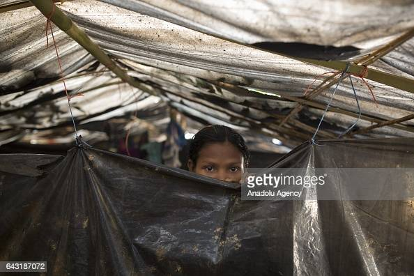 COX'S BAZAR BANGLADESH FEBRUARY 20 Hamida one of the women who were raped by Myanmar armed forces members takes shelter at Leda unregistered Rohingya...