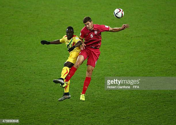 Hamidou Traore of Mali and Srdan Babic of Serbia challenge each other for the ball during the FIFA U20 World Cup New Zealand 2015 Group D match...