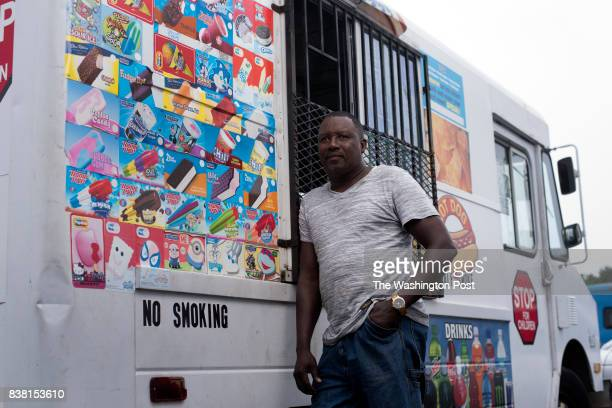 Hamidu Jalloh 56 has been selling ice cream for 25 years He is photographed with his truck at the Berliner Specialty Distributors in Hyattsville...