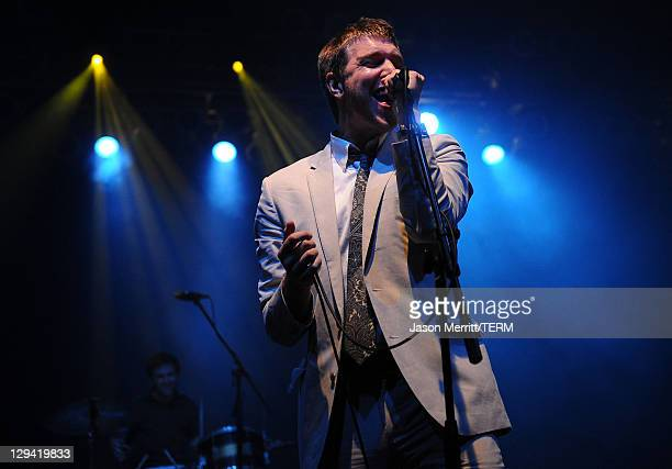 Hamilton Leithauser of The Walkmen perform on stage during Bonnaroo 2011 at That Tent on June 9 2011 in Manchester Tennessee