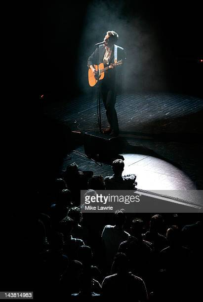 Hamilton Leithauser of the Walkmen performs during the 2012 Crossing Brooklyn Ferry Festival at the Brooklyn Academy of Music on May 3 2012 in the...