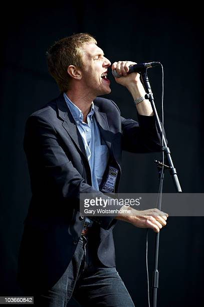 Hamilton Leithauser of The Walkmen performs on stage during the first day of Leeds Festival on August 27 2010 in Leeds England