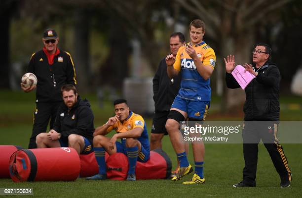 Hamilton New Zealand 18 June 2017 Chiefs assistant coach Kieran Keane during a training session in Hamilton New Zealand