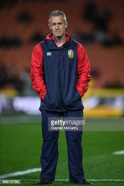 Hamilton New Zealand 20 June 2017 British Irish Lions attack coach Rob Howley during the match between the Chiefs and the British Irish Lions at FMG...
