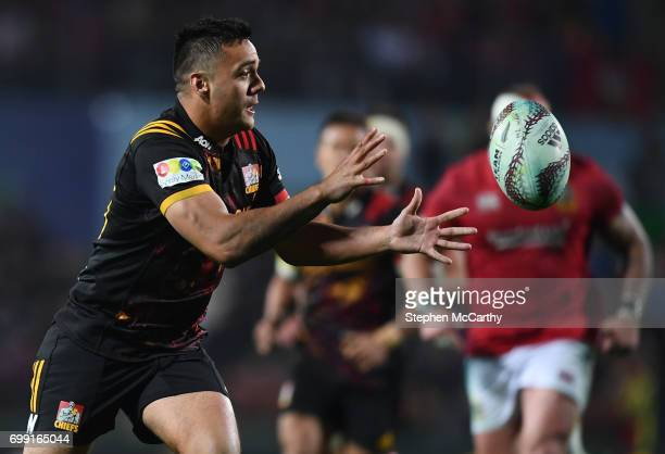 Hamilton New Zealand 20 June 2017 Chase Tiatia of the Chiefs during the match between the Chiefs and the British Irish Lions at FMG Stadium in...