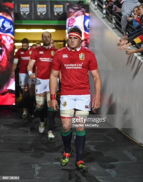 Hamilton New Zealand 20 June 2017 CJ Stander of the British Irish Lions during the match between the Chiefs and the British Irish Lions at FMG...