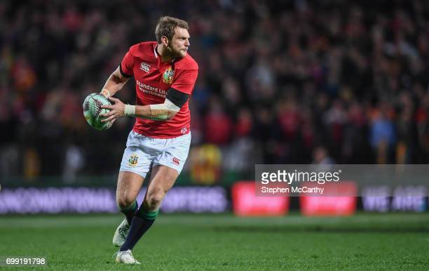 Hamilton New Zealand 20 June 2017 Dan Biggar of the British Irish Lions during the match between the Chiefs and the British Irish Lions at FMG...