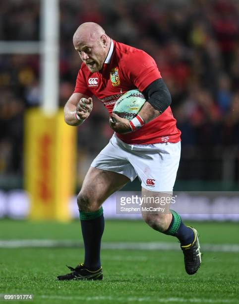 Hamilton New Zealand 20 June 2017 Dan Cole of the British Irish Lions during the match between the Chiefs and the British Irish Lions at FMG Stadium...