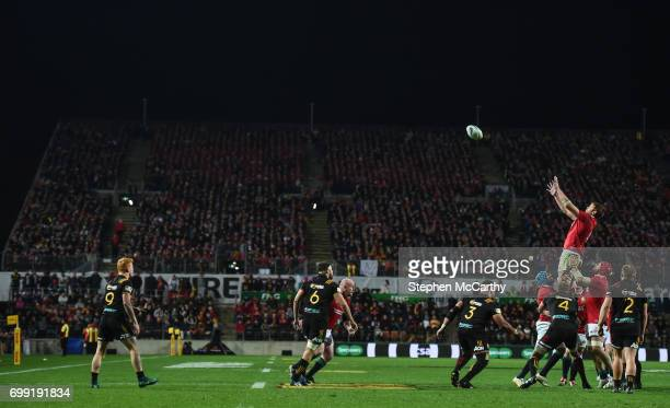Hamilton New Zealand 20 June 2017 Iain Henderson of the British Irish Lions during the match between the Chiefs and the British Irish Lions at FMG...