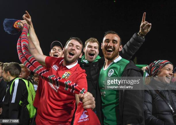 Hamilton New Zealand 20 June 2017 Jack Dineen centre following the match between the Chiefs and the British Irish Lions at FMG Stadium in Hamilton...