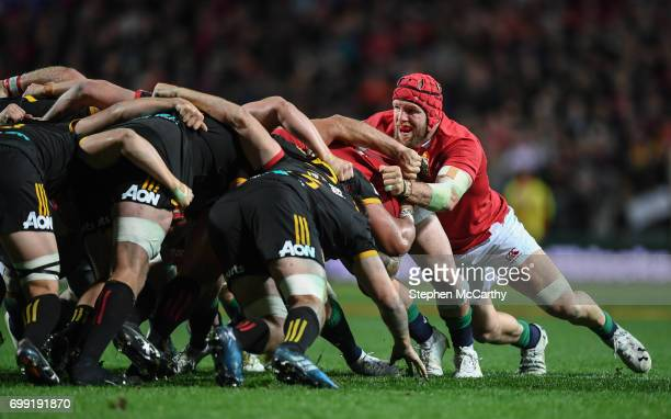 Hamilton New Zealand 20 June 2017 James Haskell of the British Irish Lions during the match between the Chiefs and the British Irish Lions at FMG...