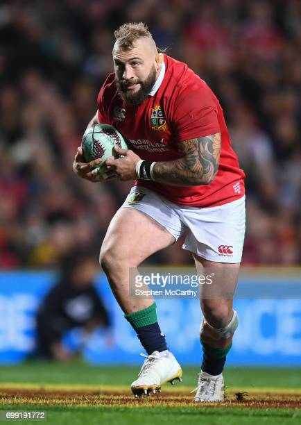 Hamilton New Zealand 20 June 2017 Joe Marler of the British Irish Lions during the match between the Chiefs and the British Irish Lions at FMG...