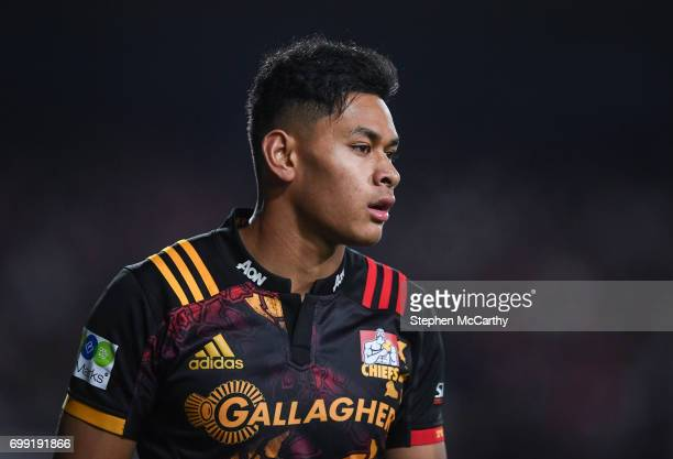 Hamilton New Zealand 20 June 2017 Solomon Alaimalo of the Chiefs during the match between the Chiefs and the British Irish Lions at FMG Stadium in...
