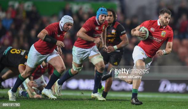 Hamilton New Zealand 20 June 2017 Tommy Seymour of the British Irish Lions during the match between the Chiefs and the British Irish Lions at FMG...