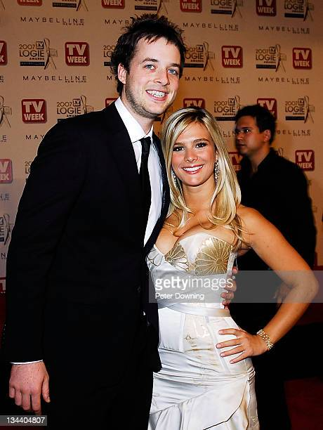 Hamish Blake and Anna JenningsEdquist during 2007 TV Week Logie Awards Arrivals at Crown Casino in Sydney NSW Australia