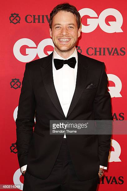 Hamish Blake arrives at the GQ Men of the Year awards at the Ivy Ballroom on November 19 2013 in Sydney Australia