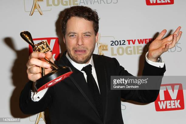 Hamish Blake poses after winning the Gold Logie at the 2012 Logie Awards at the Crown Palladium on April 15 2012 in Melbourne Australia