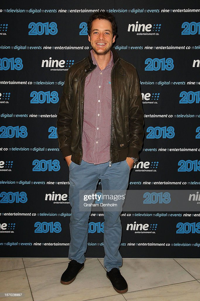 Hamish Blake poses as he arrives at the Nine 2013 program launch at Myer on November 28, 2012 in Melbourne, Australia.