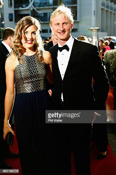 Hamish Bond arrives at the 2015 Halberg Awards at Vector Arena on February 11 2015 in Auckland New Zealand