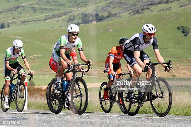 Hamish Bond of Cambridge makes his way to Coronet Peak from Mossburn during stage three of the 2016 Tour of Southland on November 02 2016 in...