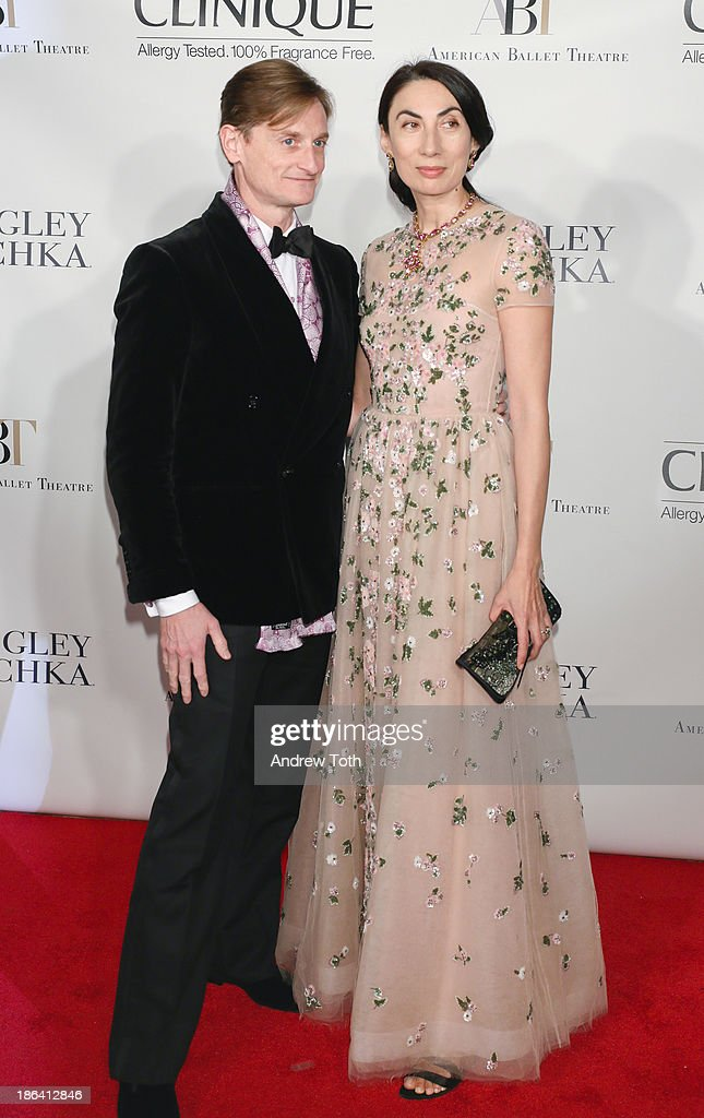 Hamish Bowles and Anh Duong attend the American Ballet Theatre 2013 Opening Night Fall gala at David Koch Theatre at Lincoln Center on October 30, 2013 in New York City.